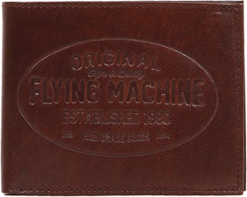 Flying Machine Men Purple Genuine Leather Wallet(5 Card Slots)