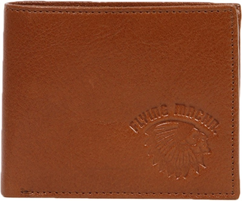 Flying Machine Men Tan Genuine Leather Wallet(5 Card Slots)
