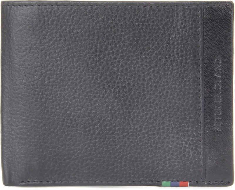 Peter England Men Black Genuine Leather Wallet(8 Card Slots)