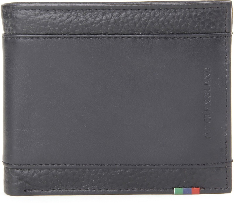 Peter England Men Black Genuine Leather Wallet(3 Card Slots)