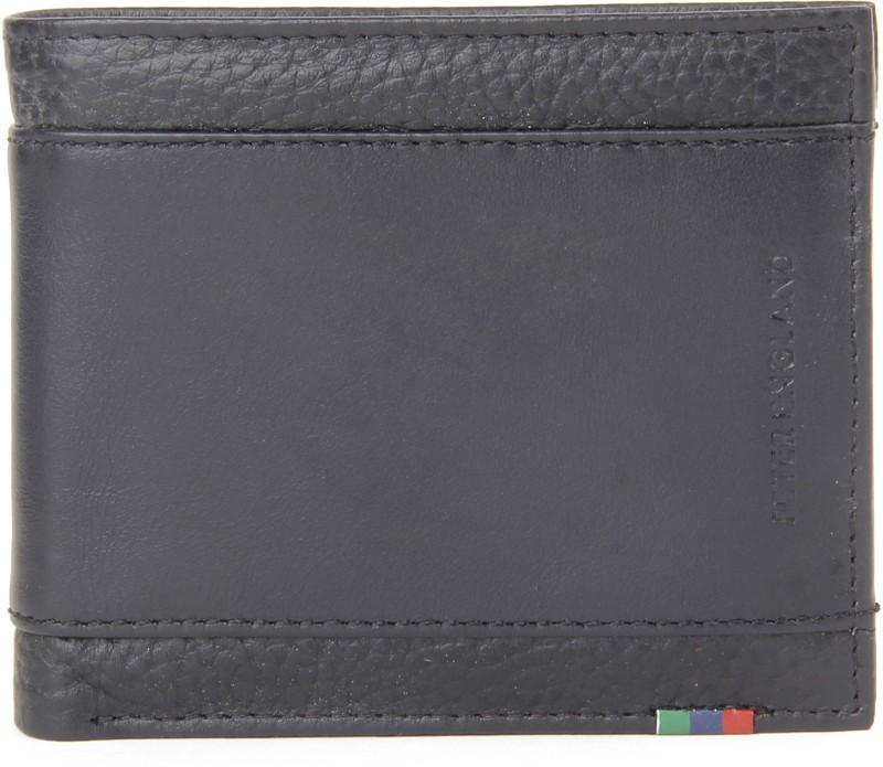Peter England Men Black Genuine Leather Wallet(3 Card Slots)