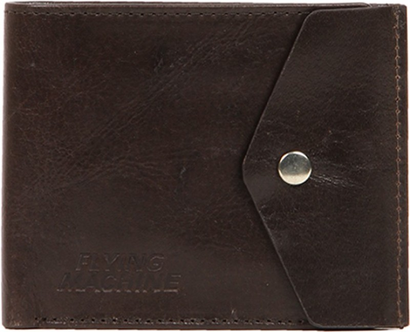 Flying Machine Men Brown Genuine Leather Wallet(5 Card Slots)