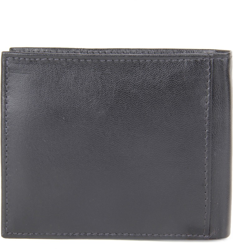Peter England Men Black Genuine Leather Wallet(4 Card Slots)
