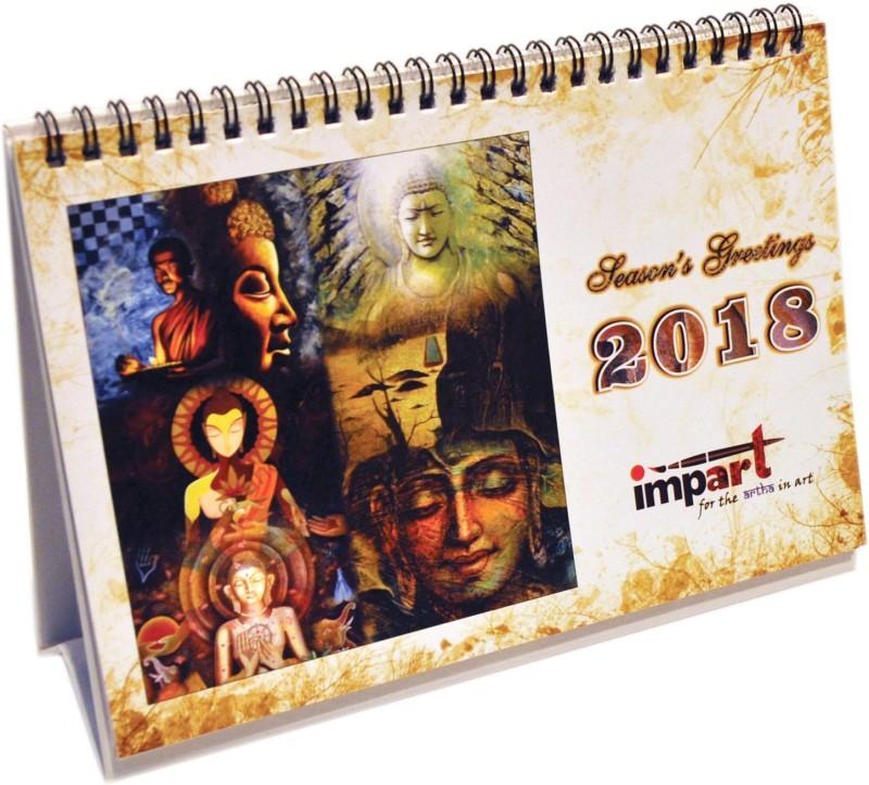 impart CAL03/2018/BODH 2018 Table Calendar(Multicolor, BUDDHA)