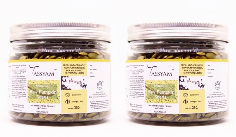 Tassyam Tassyam Raw Pumpkin Seeds 500g (2x 250g) | Halloween Special Premium Jar(500 g, Pack of 2)