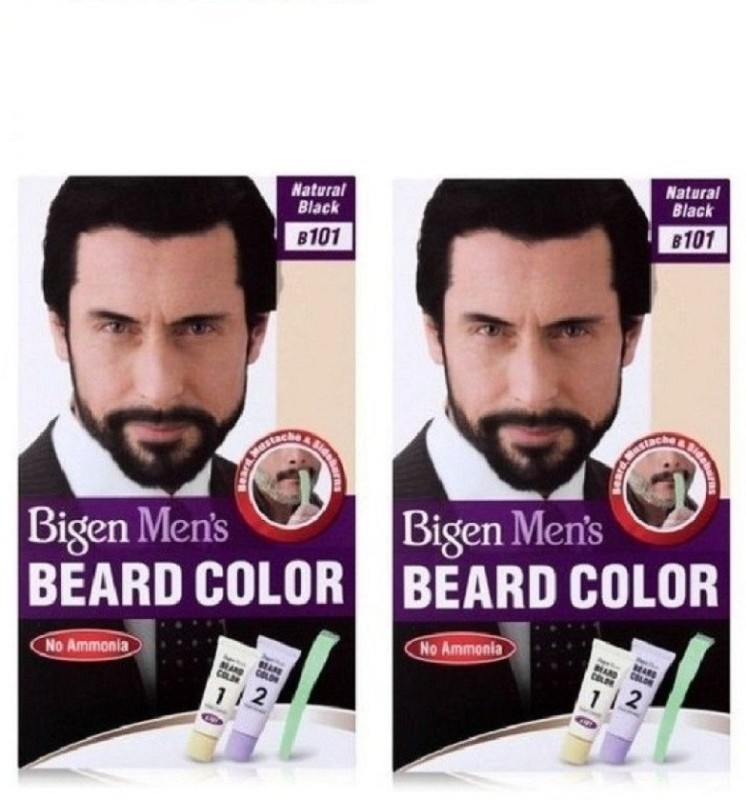 Bigen Beard Colour Natural Black 101 Hair Color(Natural Black)