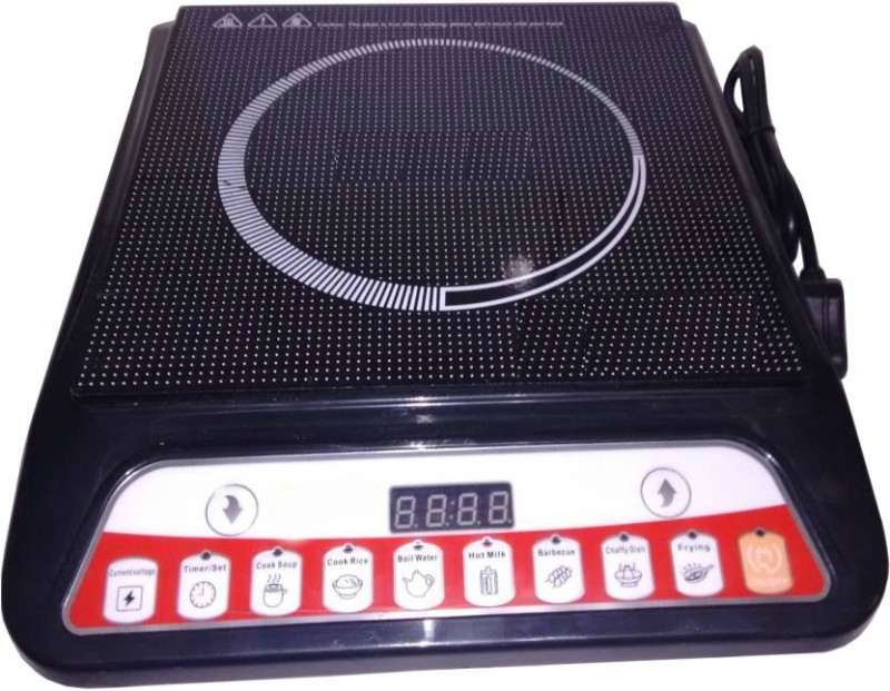 nNOVL A8 2000-Watt Induction Cook-top 02 Induction Cooktop(Black, Push Button)