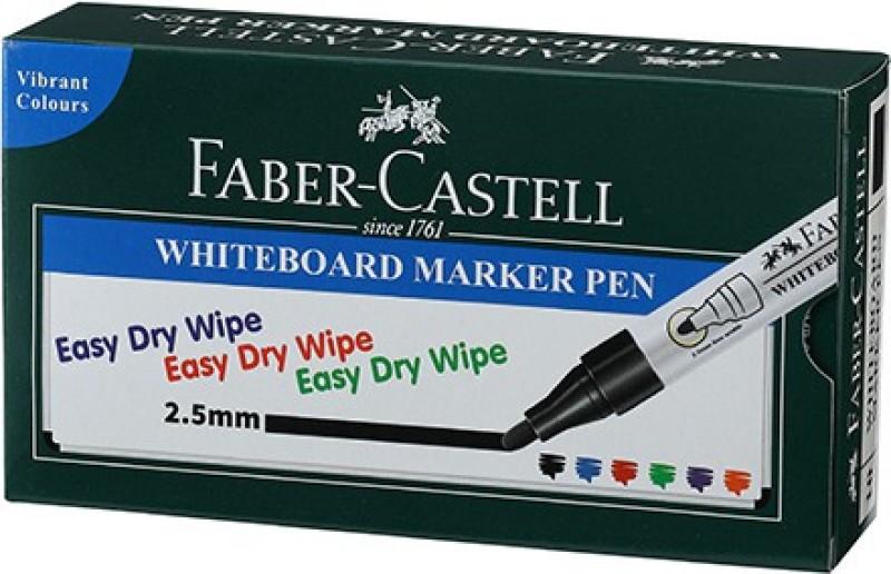 Faber-Castell Whiteboard Marker Black Box(Set of 10, Black)