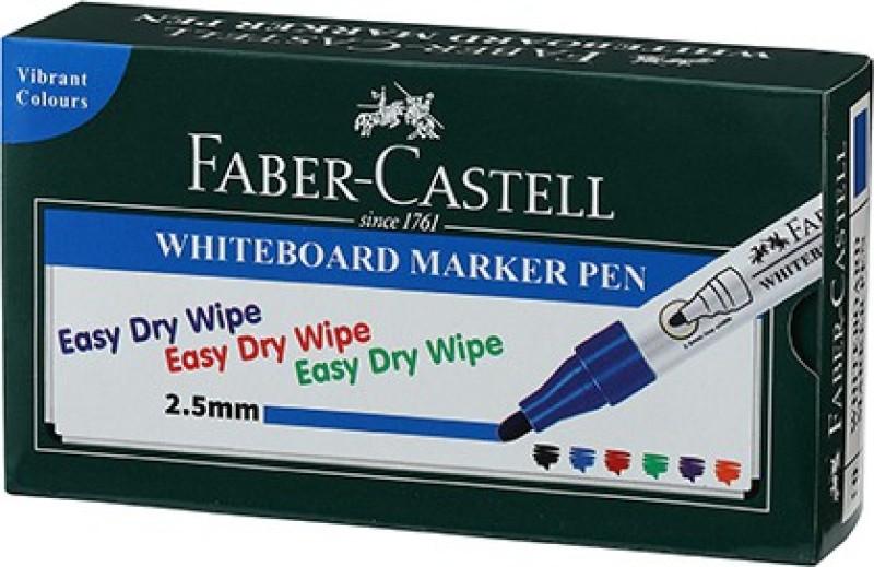 Faber-Castell Whiteboard Marker Blue Box(Set of 10, Blue)