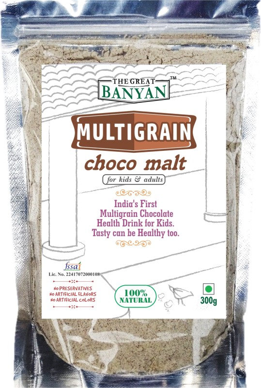 The Great Banyan Organic Multigrain Choco Malt(For all ages) Health Drink(300 g)