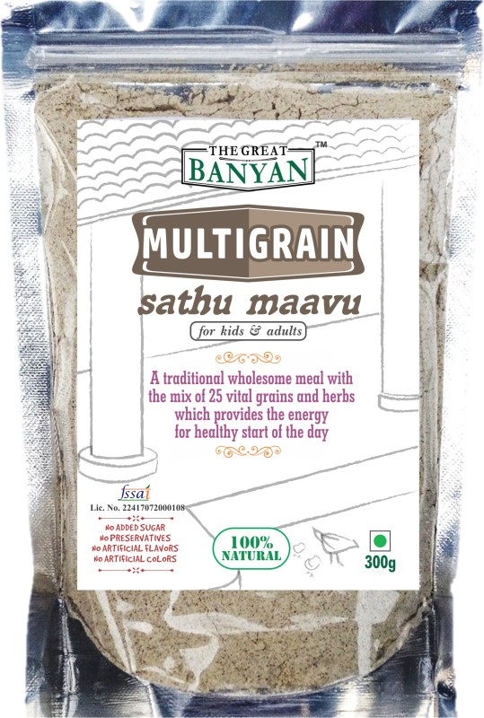 The Great Banyan Organic Multigrain Sathu Maavu Health Mix(For all ages) Health drink(300 g)