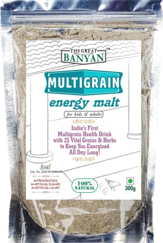 The Great Banyan Organic Multigrain Energy Malt(For all ages) Health Drink(300 g)