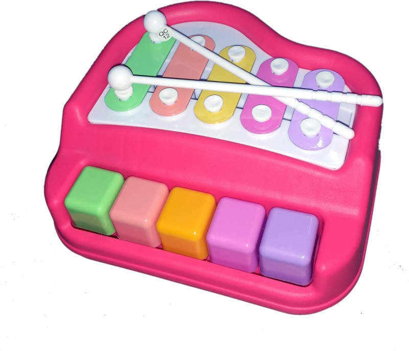 Techhark 5 Keys Xylophone Piano With 2 Mallet Sticks No Batteries Needed(Multicolor)