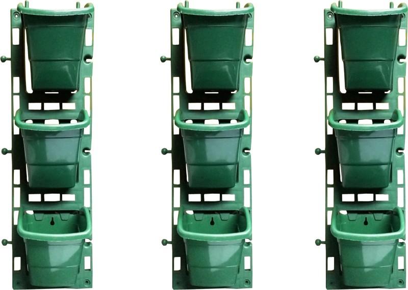 SHOPTICO Plant Pot Plant Container Set(Pack of 3, Plastic)