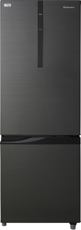Panasonic 296 L Frost Free Double Door 2 Star Refrigerator(Black, NR-BR307RKX1)