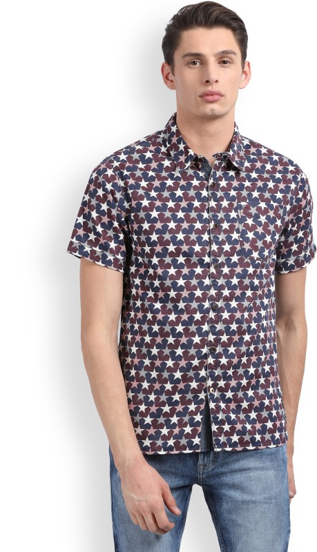 Tommy Hilfiger Mens Printed Casual Multicolor Shirt