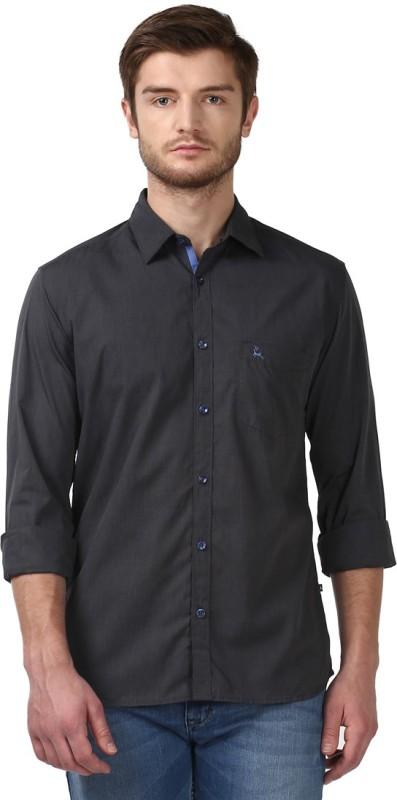 Parx Men Solid Formal Cut Away Shirt