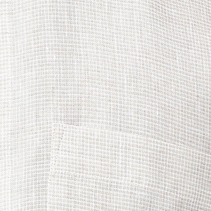 Raymond Mens Checkered Formal Linen Beige Shirt