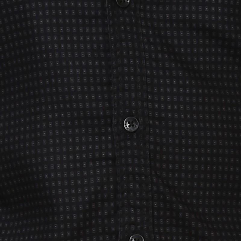 Parx Men Self Design Formal Black Shirt