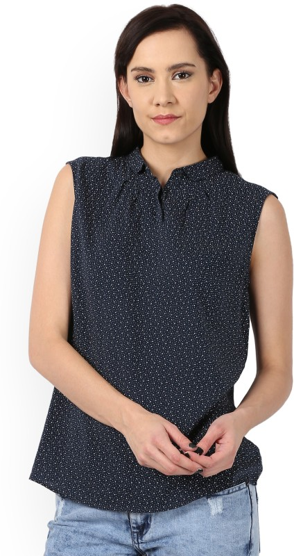 Levis Womens Printed Casual Blue Shirt