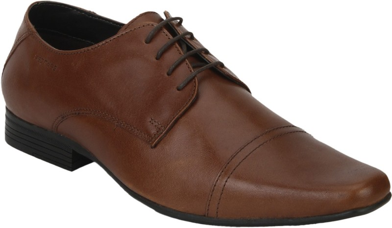 Red Tape Men Leather Toecape Lace Up For Men(Tan)