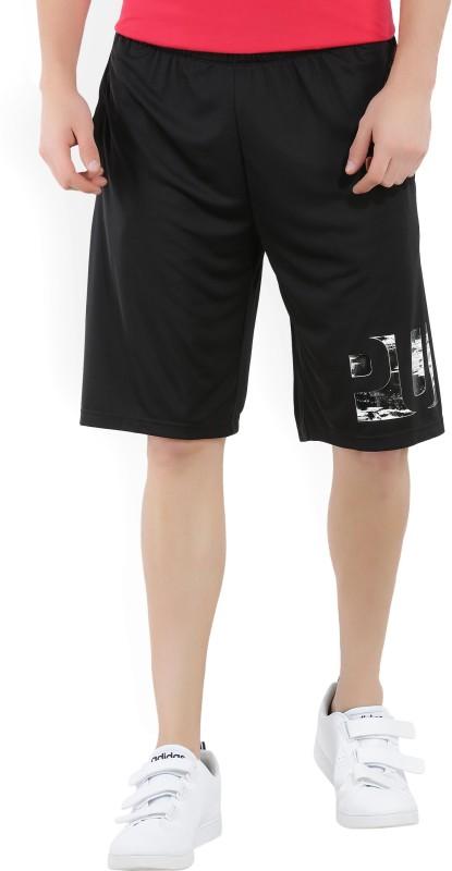 Puma Printed Mens Black Basic Shorts