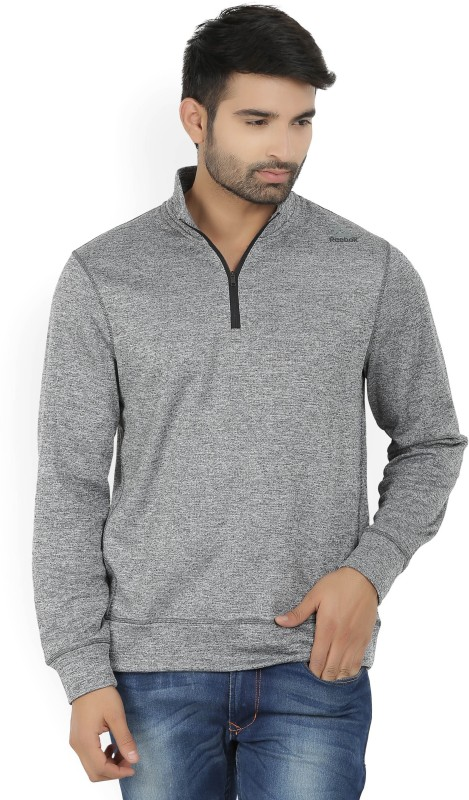 REEBOK Full Sleeve Solid Men's Sweatshirt