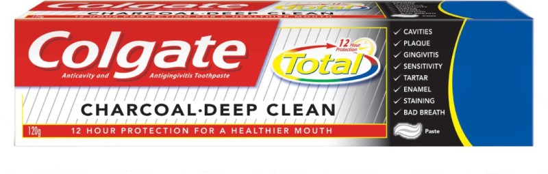 Colgate Total Charcoal Deep Clean Toothpaste(120 g)
