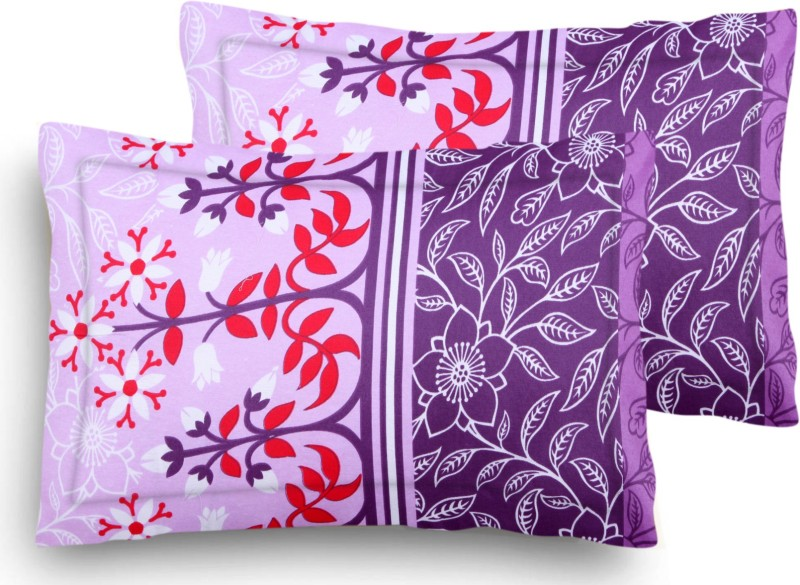 Home Elite Floral Pillows Cover(Pack of 2, 45 cm*69 cm, Multicolor)