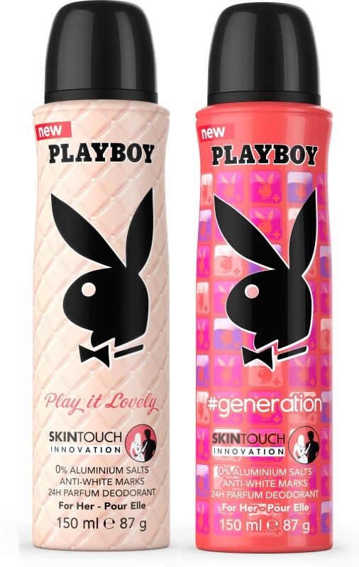 Playboy Love + Gen W Deodorant Spray - For Women(300 ml, Pack of 2)
