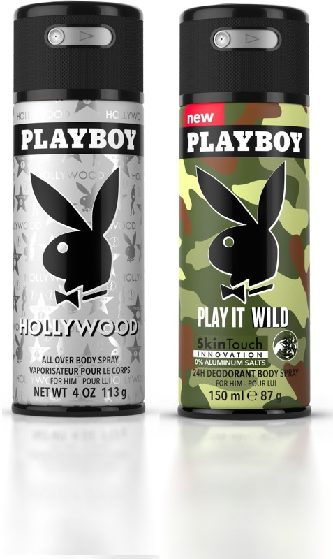 Playboy Holly + Wild M Deodorant Spray - For Men(300 ml, Pack of 2)