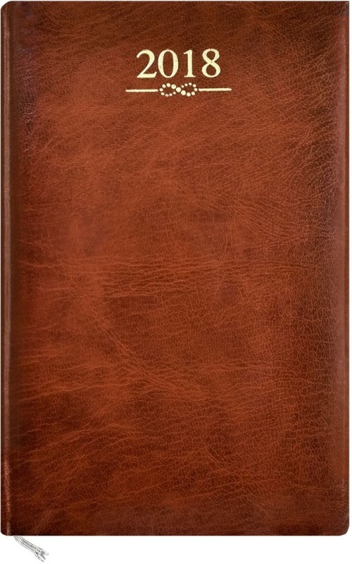 Abstract Collection A5 Diary(2018, Brown)