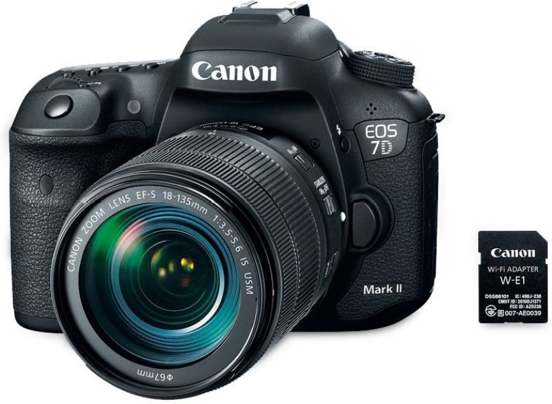 Canon EOS 7D MarkII(G) W-E1 18-135USM DSLR Camera Digital Single Lens Reflex camera(Black)