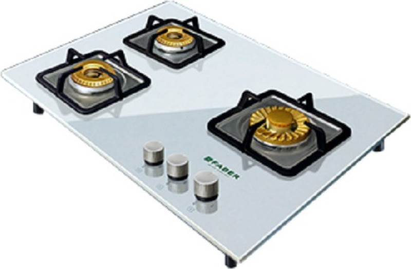 FABER HGG 653 CRS BR CI WH HT Glass, Stainless Steel Automatic Gas Stove(3 Burners)