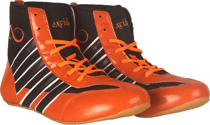 excido ks04blkorng Wrestling Shoes For Men(Black, Orange)