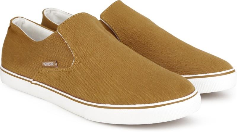 Provogue Mr. CL Canvas Shoes For Men(Tan)