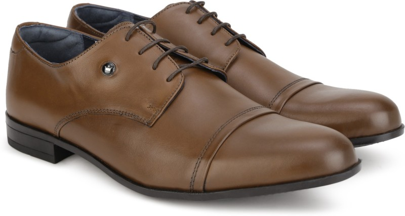 Louis Philippe Lace Up For Men(Tan)