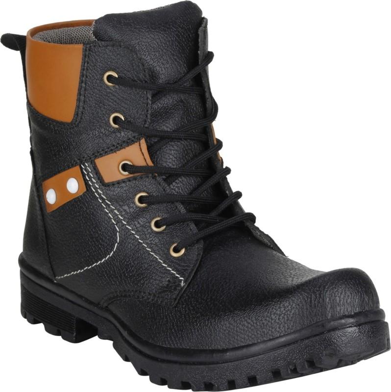 Rimoni Long Cowboy Boots, Outdoors(Black) Boots(Black)