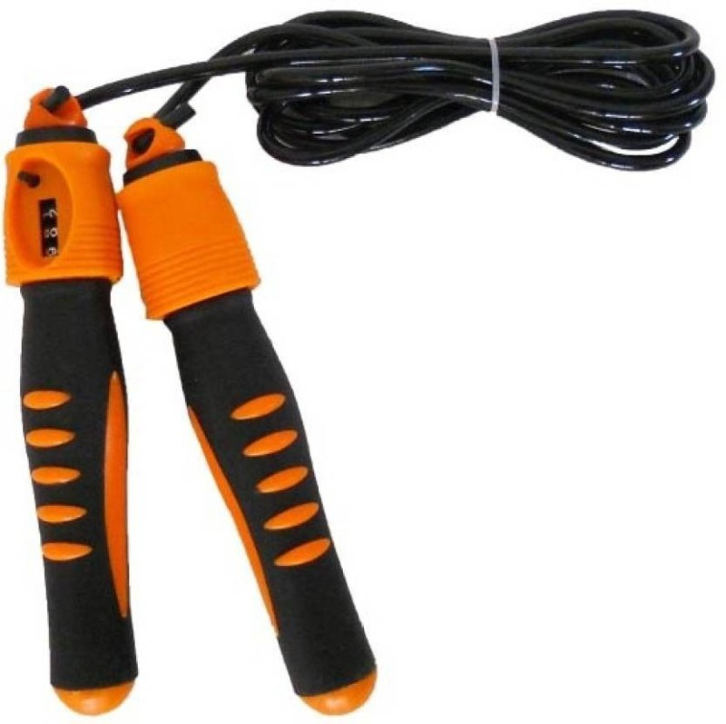 Sports Solutions Skip and Fit auto Counter Freestyle Skipping Rope(Multicolor, Length: 320 cm)