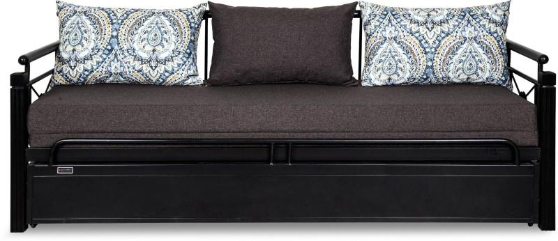 FurnitureKraft Venice Single Metal Sofa Bed(Finish Color - Black Mechanism...