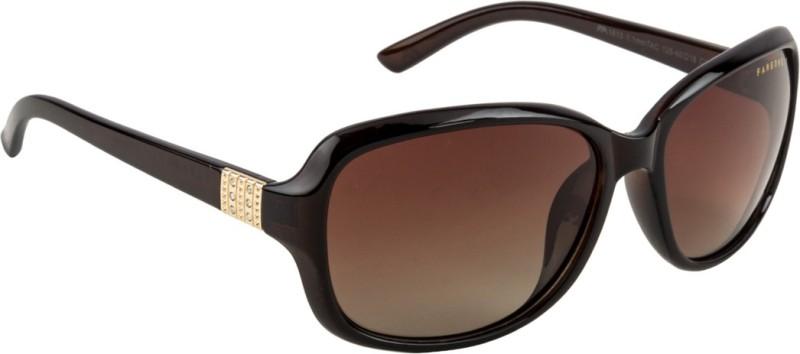 Farenheit Oval Sunglasses(Brown)