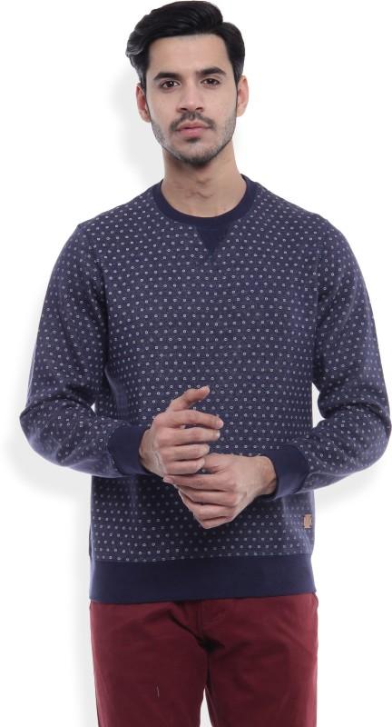 LP Jeans by Louis Philippe Full Sleeve Polka Print Mens Sweatshirt