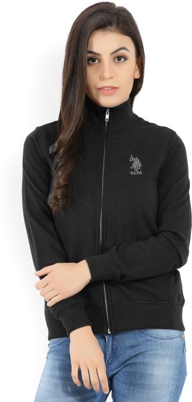 U.S. Polo Assn Full Sleeve Solid Womens Sweatshirt