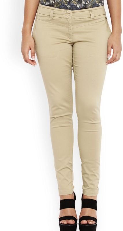 Park Avenue Slim Fit Women Brown Trousers