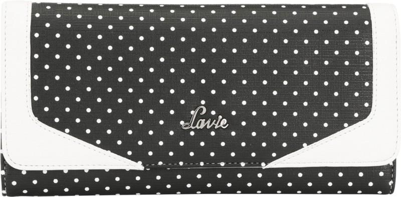Lavie Women Black Artificial Leather Wallet(12 Card Slots)
