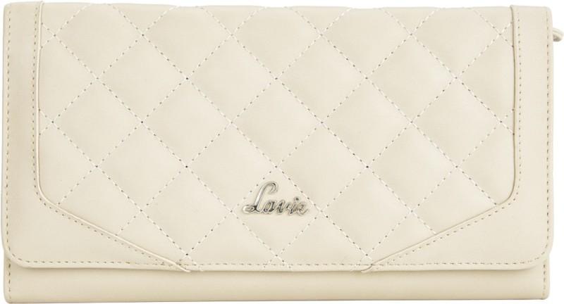 Lavie Women Beige Artificial Leather Wallet(18 Card Slots)
