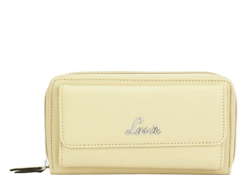 Lavie Women Beige Artificial Leather Wallet(19 Card Slots)