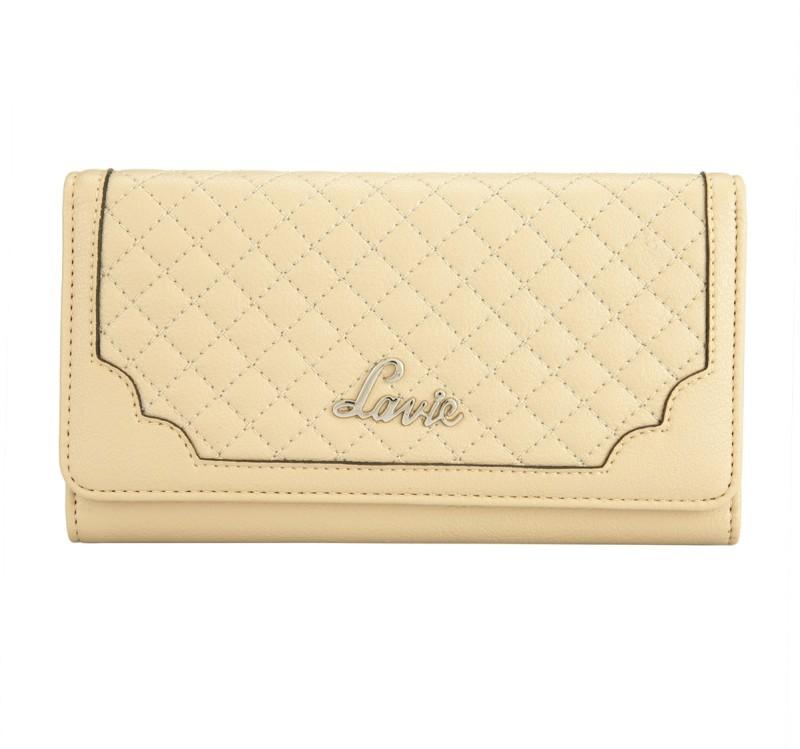 Lavie Women Tan Artificial Leather Wallet(26 Card Slots)