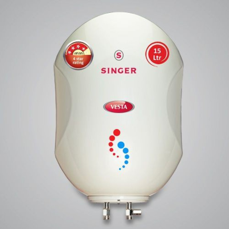 Singer 15 L Storage Water Geyser(White, VESTA)
