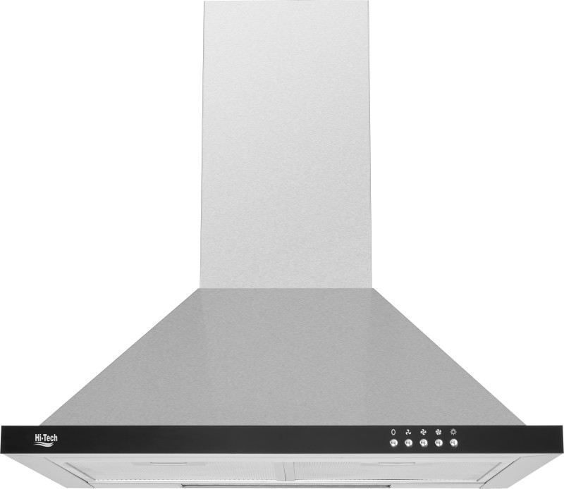 Hi-Tech 0303 Wall Mounted Chimney(Silver, Black 1000 CMH)